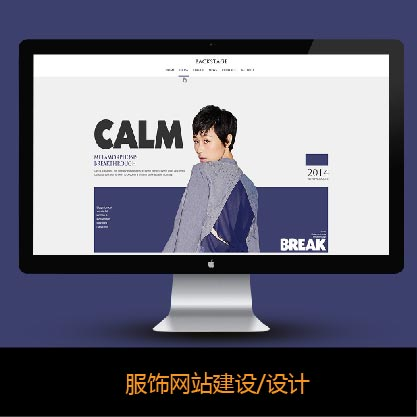 高端服饰网站建设